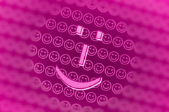 Pink smiley face background. Pink smiley faces background with blur frame Stock Photo