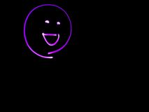 Pink Smilie Face Light Art Royalty Free Stock Photography