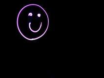 Pink Smilie Face Light Art Stock Image