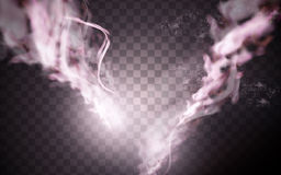 Pink smoke element Royalty Free Stock Images
