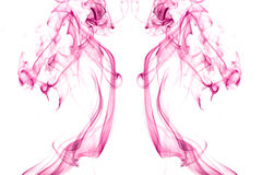 Pink smoke Stock Image
