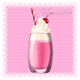 Pink smoothie in glass Stock Image
