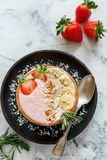 Pink smoothies bowl for a healthy breakfast. Stock Photography