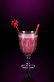 Pink smoothies with decoration royalty free stock image