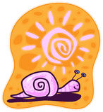 Pink Snail Royalty Free Stock Photo
