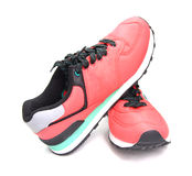 Pink sneaker, sports shoes Stock Photos