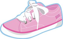 Pink Sneaker Vector Art and lustration. Pink sneaker vector art and Illustration for many purpose such as education icon for slide presentation, book, website Vector Illustration