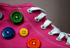 Pink Sneakers Royalty Free Stock Image