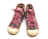 Pink sneakers Royalty Free Stock Photos