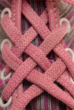 Pink sneakers Stock Image