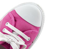 Pink sneakers Stock Images