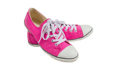 Pink Sneakers For Girl. Royalty Free Stock Photos