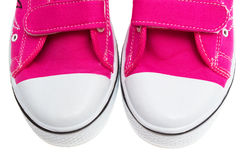 Pink Sneakers Isolated On White Stock Photo