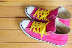 Pink sneakers Stock Photography