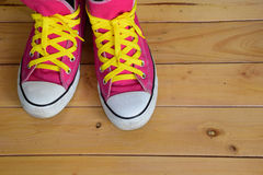 Pink sneakers Royalty Free Stock Photography