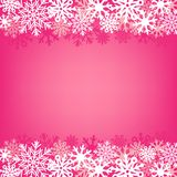 Pink snow background Stock Images