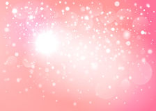 Pink snow bokeh background. Vector EPS 10. Royalty Free Stock Photography