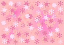 Pink snow crystal background Royalty Free Stock Images