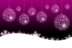 Pink snow flake background Stock Photography