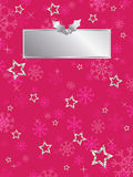 Pink snowflake background Royalty Free Stock Photos