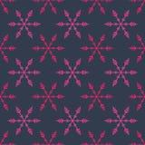 Snowflakes seamless pattern Royalty Free Stock Image