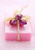 Pink soap Stock Image