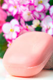 Pink soap. Stock Photo