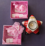 Pink Soap Set for Baby Stock Images