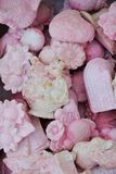 Pink soaps. Of different sizes and flowery flagrances for spa business Royalty Free Stock Image