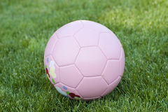 Pink Soccer ball Stock Photo