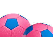 Pink Soccer Ball Border Royalty Free Stock Photography