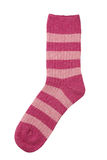 Pink sock isolated on white Royalty Free Stock Images