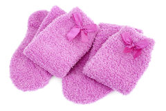 Pink socks Royalty Free Stock Images