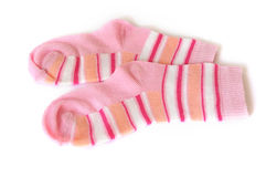 Pink socks isolated Royalty Free Stock Photography