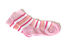 Pink socks on white Stock Image