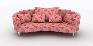 Pink sofa Royalty Free Stock Photos