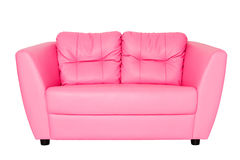 Pink sofa Stock Photography