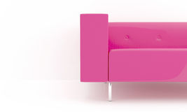 Pink sofa detail Stock Photo