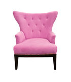 Pink Sofa Isolated Stock Image