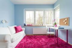 Pink soft carpet Stock Photo