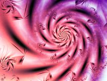 Pink soft and dynamic spiral Royalty Free Stock Photos