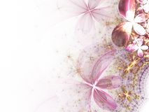 Pink soft fractal flowers Stock Photo