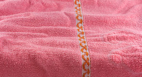 Pink soft towel. Stock Photos
