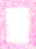 Pink soft watercolor frame Royalty Free Stock Photos