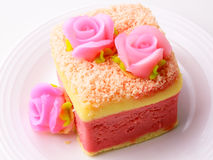 Pink softl cake Royalty Free Stock Image