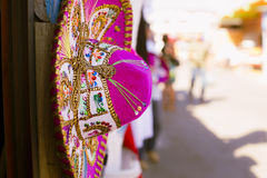Pink Sombrero. In the flea markets of Mexico Royalty Free Stock Images