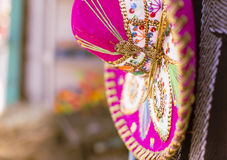 Pink Sombrero. In the flea markets of Mexico Royalty Free Stock Photo