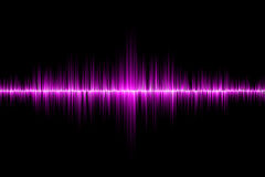 Pink sound wave background Royalty Free Stock Photography