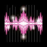 Sound wave design. Pink sound wave icon over black background colorful design vector illustration Stock Photography