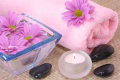 Pink spa Stock Photo